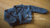 0-6 Months V-Neck Pullover Sweater