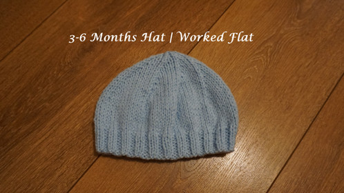 3-6 Months Hat | Worked Flat