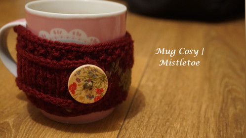 Mug Cosy | Mistletoe Leaves
