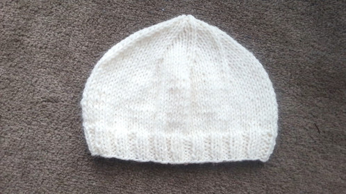Basic Knitted Baby Hat 0-3 Months | Worked Flat