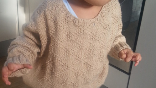 Diamond Brocade Toddler Sweater