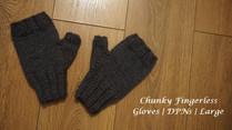 Chunky Fingerless Gloves | DPNs | Large
