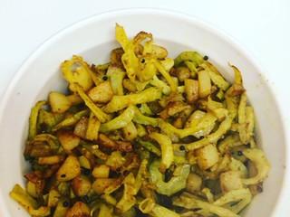 Bitter Gourd and Potato Vegetable