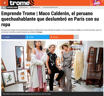ITW TROME PERU