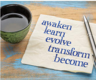image awaken, learn, evolve, transform, become
