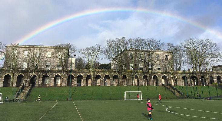 Image of sky with rainbow