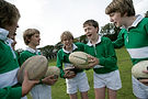 image of children playing rugby at Devonport High School for Boys