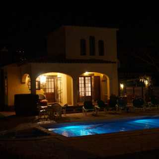 Nightlife in the villa