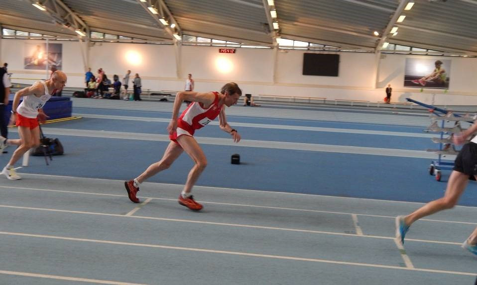 Richard Marks making a speedy getaway in the M60 800m