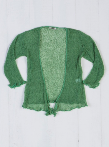 Fair Trade Loose Knit Green Gringo Shrug, One Size 6 to 20