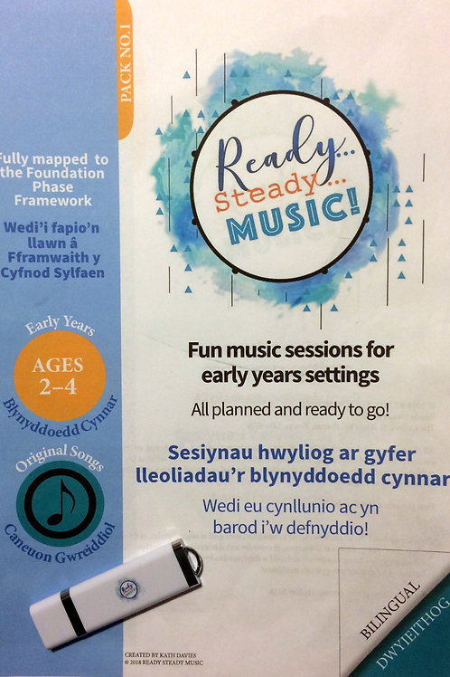 'Ready, Steady, Music!' Pack 1 Bilingual Eng/Welsh with USB