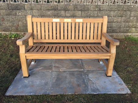 The Centennial Bench has now been fitted to the cricket field