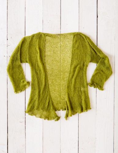Fair Trade Loose Knit Sage Green Gringo Shrug, One Size 6 to 20