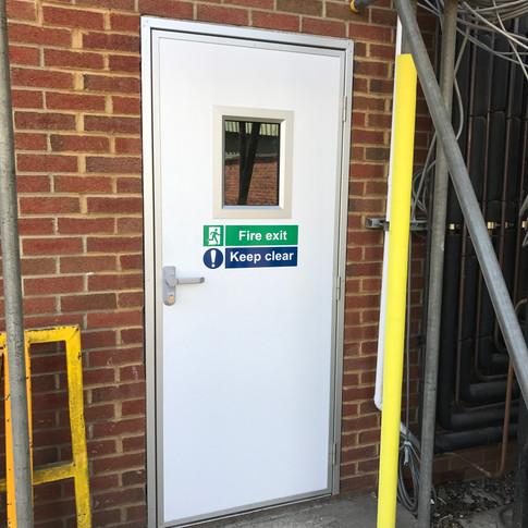 Fire Exit Amenity Door