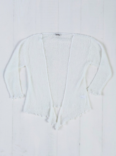 Fair Trade Loose Knit Off White Gringo Shrug, One Size 6 to 20