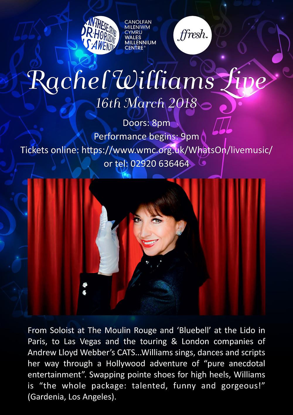 Rachel Wiilams Live poster