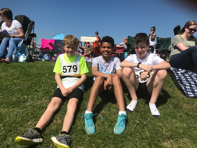 Cameron Eley, Joseph Hall and Will Bailey U13 Boys