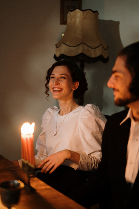 Happy Couple in Candlelight