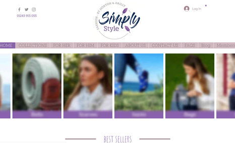 Simply Style Client had initially designed the website and brou...
