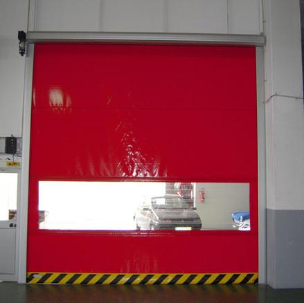 Rapid Roll Door in Red