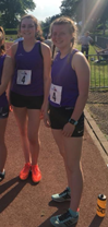 Seren Jones & Caitlin Jones in East Wales vests