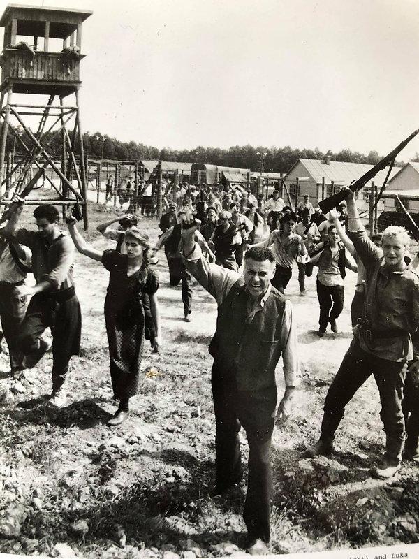 The final escape scene from Sobibór