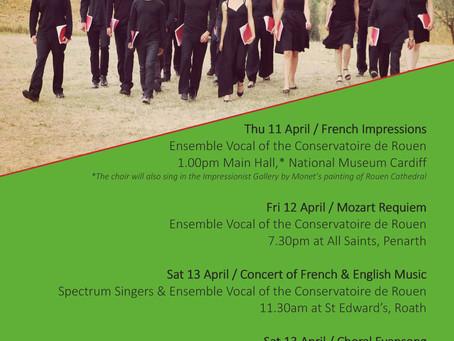 Choral performances in April