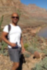Image of David Rahman walking
