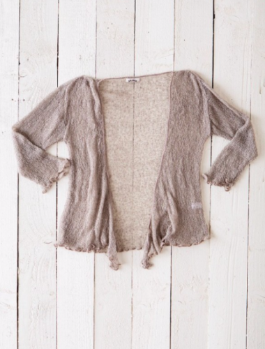 Fair Trade Loose Knit Fawn Gringo Shrug, One Size 6 to 20