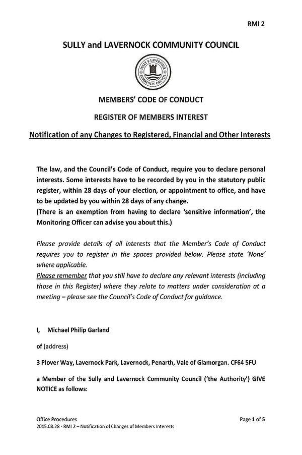 Register of Members Interest 2 - Notific