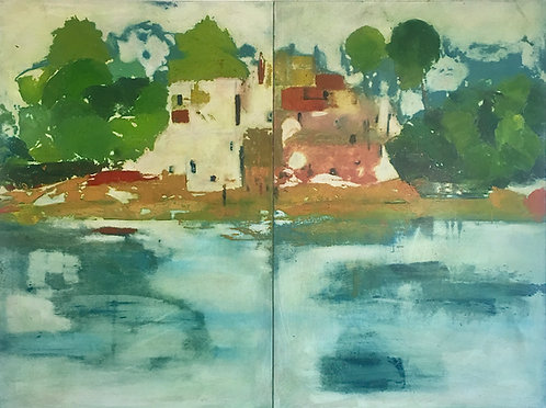 ACROSS THE RIVER 1 & 2  diptych