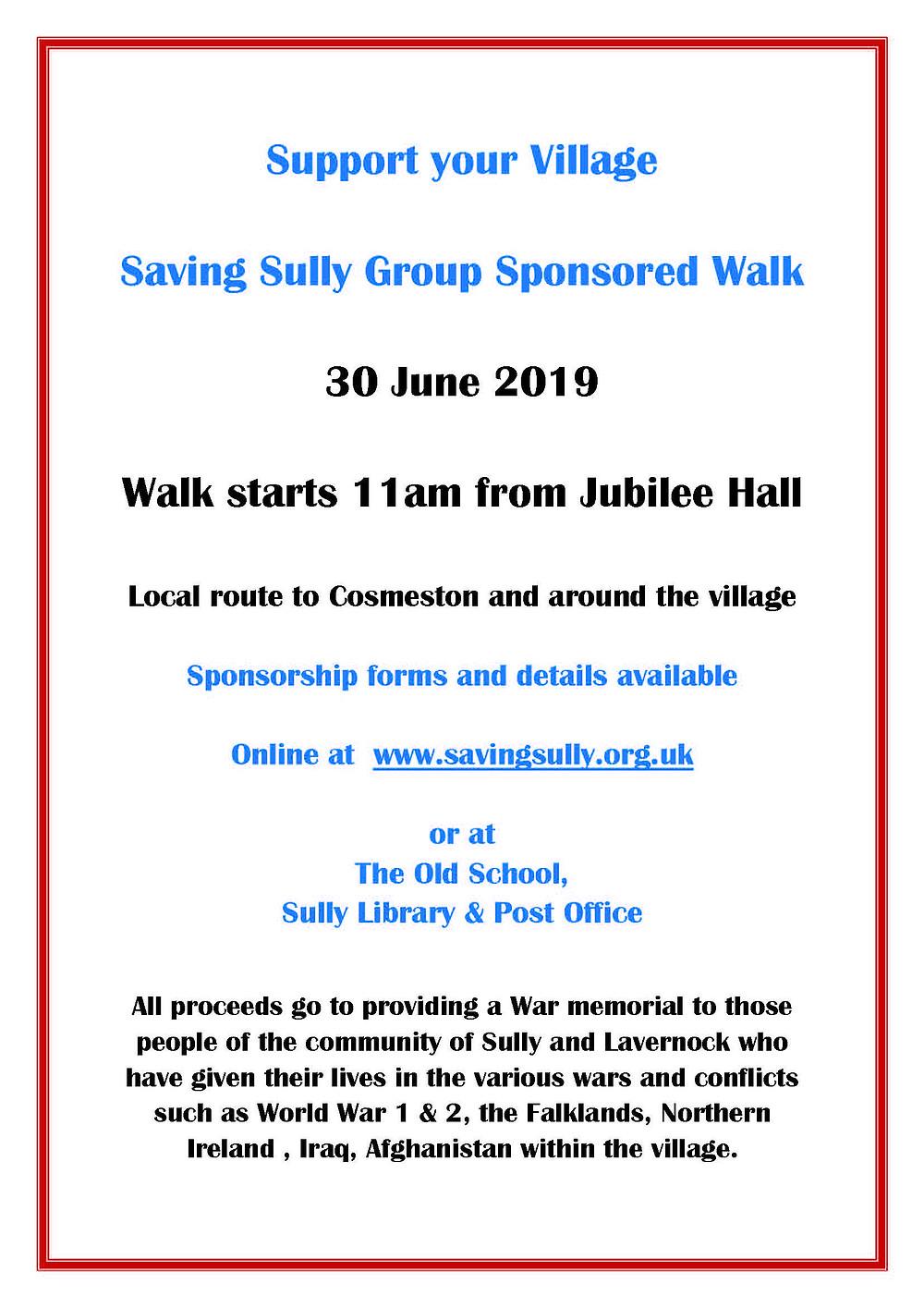 Poster Sponsored Walk
