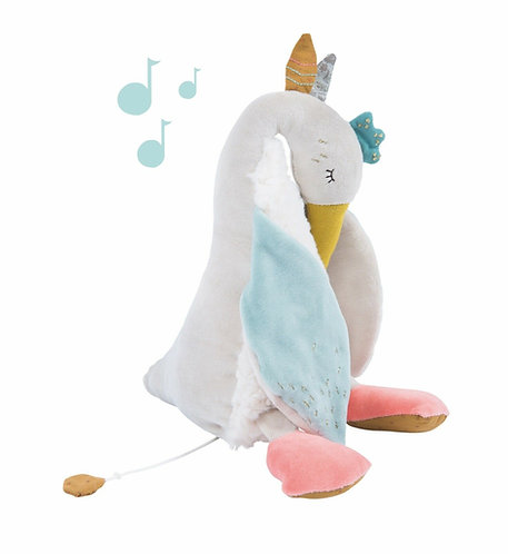 Moulin Roty Le Voyage D'Olga Soft Toy Musical Goose