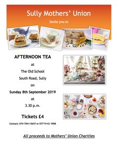 Sully Mothers' Union - Afternoon Tea