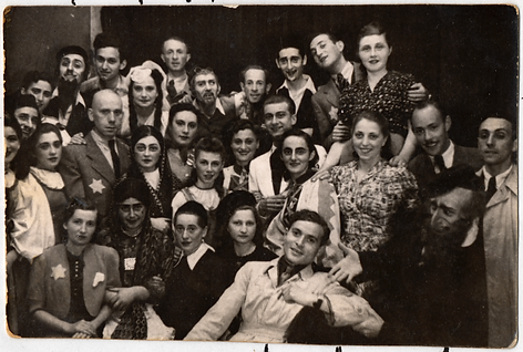 Group portrait of members of a theater