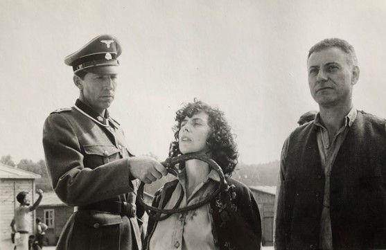 Gustav Wagner (Harmut Becker), Ada Lichtman (Patti Love) and Leon Feldhendler (Alan Arkin)