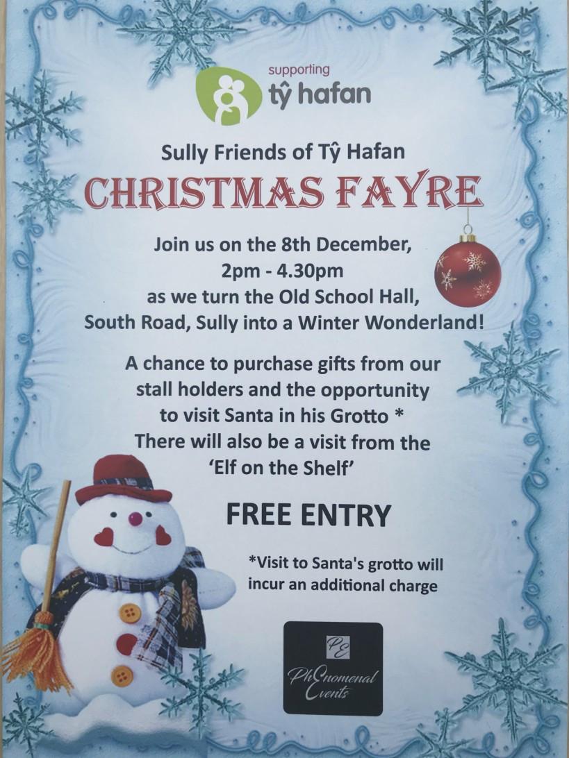 Poster Ty Hafan Christmas Fayre