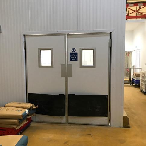 Double Leaf Double Action Amenity Door