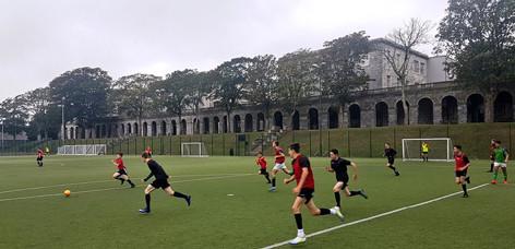 180921 Football practice
