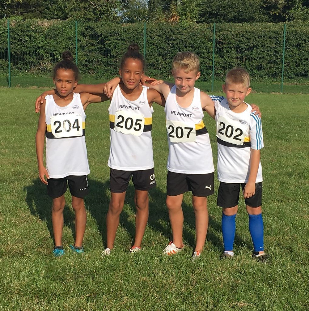 Record Breaking Under 11s Relay Team