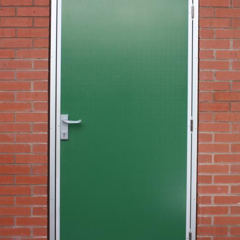 Amenity Door with Lock and Lever Handle