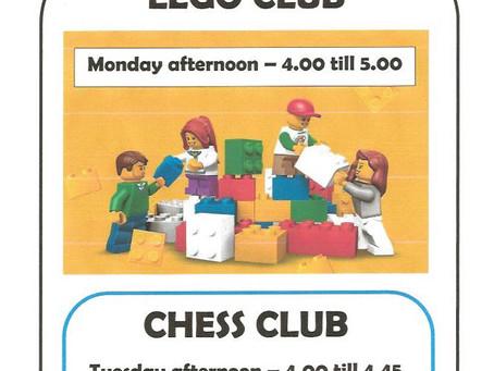 Lego Club and Chess Club
