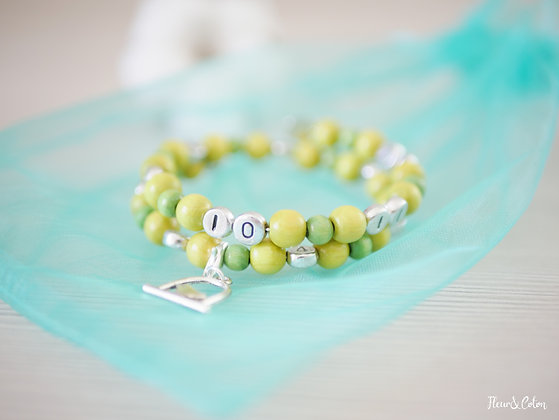 Bracelet d'allaitement - Vert anis