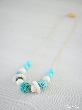 Collier de portage - Eau turquoise