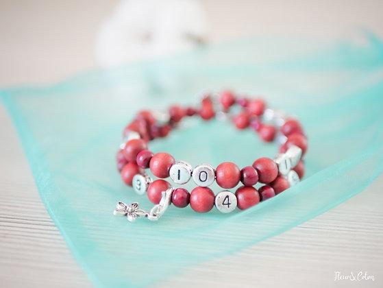 Bracelet d'allaitement - Vieux rose