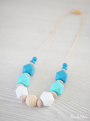 Collier de portage - Bleu lagon