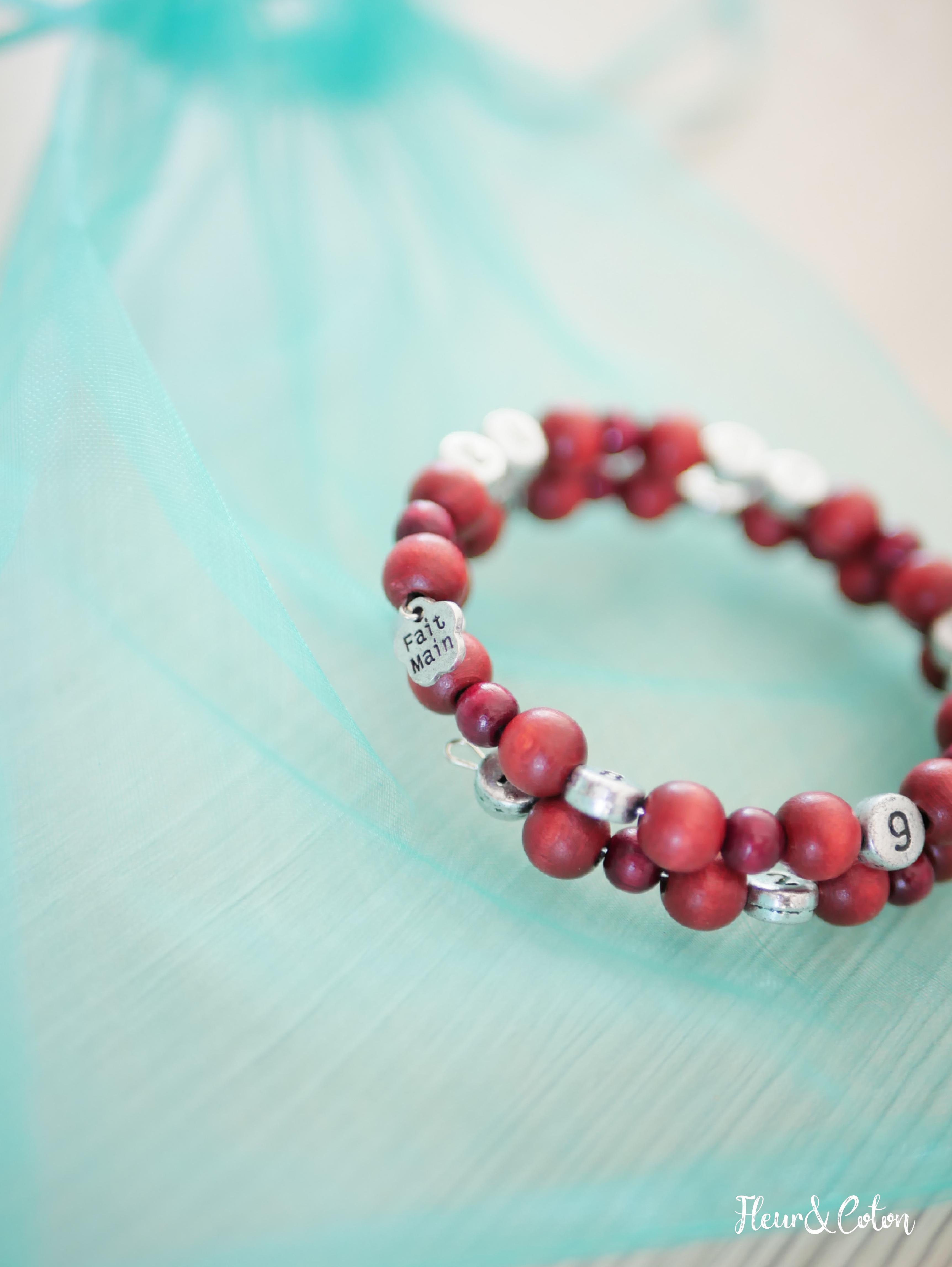Bracelet d'allaitement vieux rose5