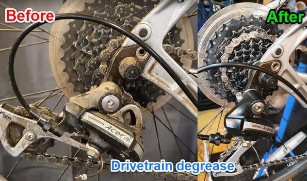 Bike drivetrain clean/degrease