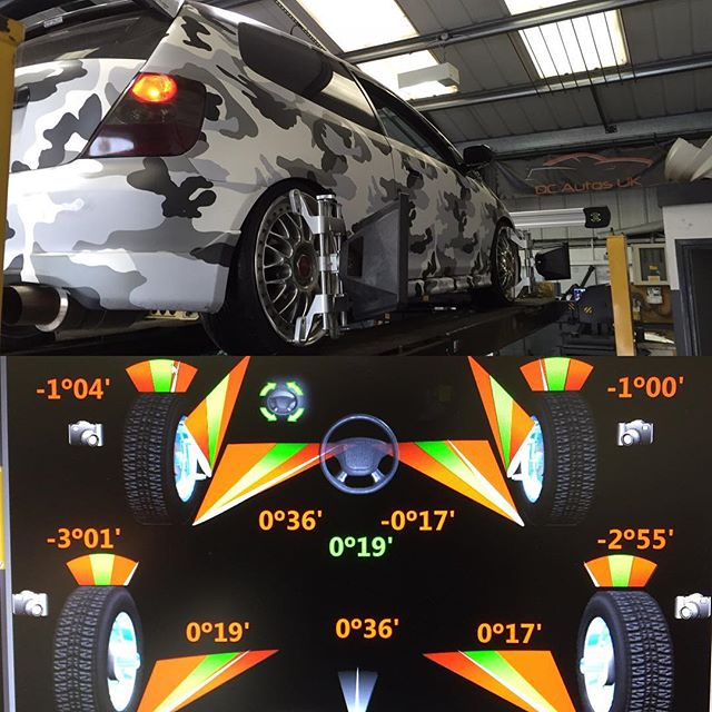 Today's set up for full wheel alignment _yiannimize #honda #civic #typrR after having its air ride k