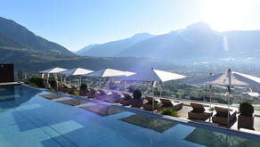 Zauberhafte Luxushotel Giardino Marling oberhalb von Meran